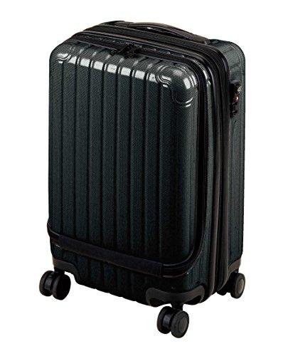 キャプテンスタッグ(CAPTAIN STAG) キャリーバッグ スーツケース フロントポケット付き TSAロック付き Sサイズ ブラック シック UV-60