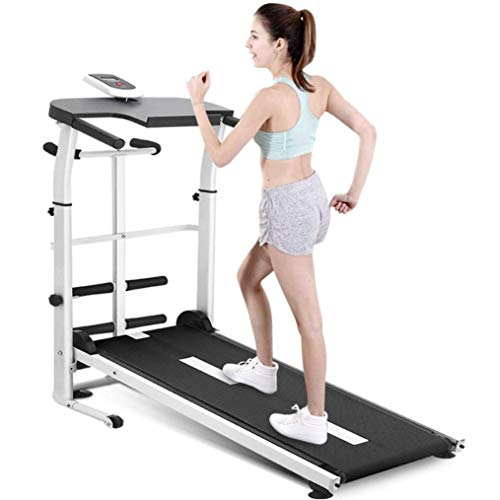 3 IN1 Cinta de correr plegable multifuncional, cinta de correr, correa manual para correr la máquina caminando con pantalla LED para el gimnasio en casa, equipos de aptitud cardio, desde general hasta