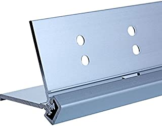 Full Mortise with Lip Continuous Geared door hinges 24 Series Full Mortise Type in Aluminum Finish, Durable door hardware, shower hardware & door hinges