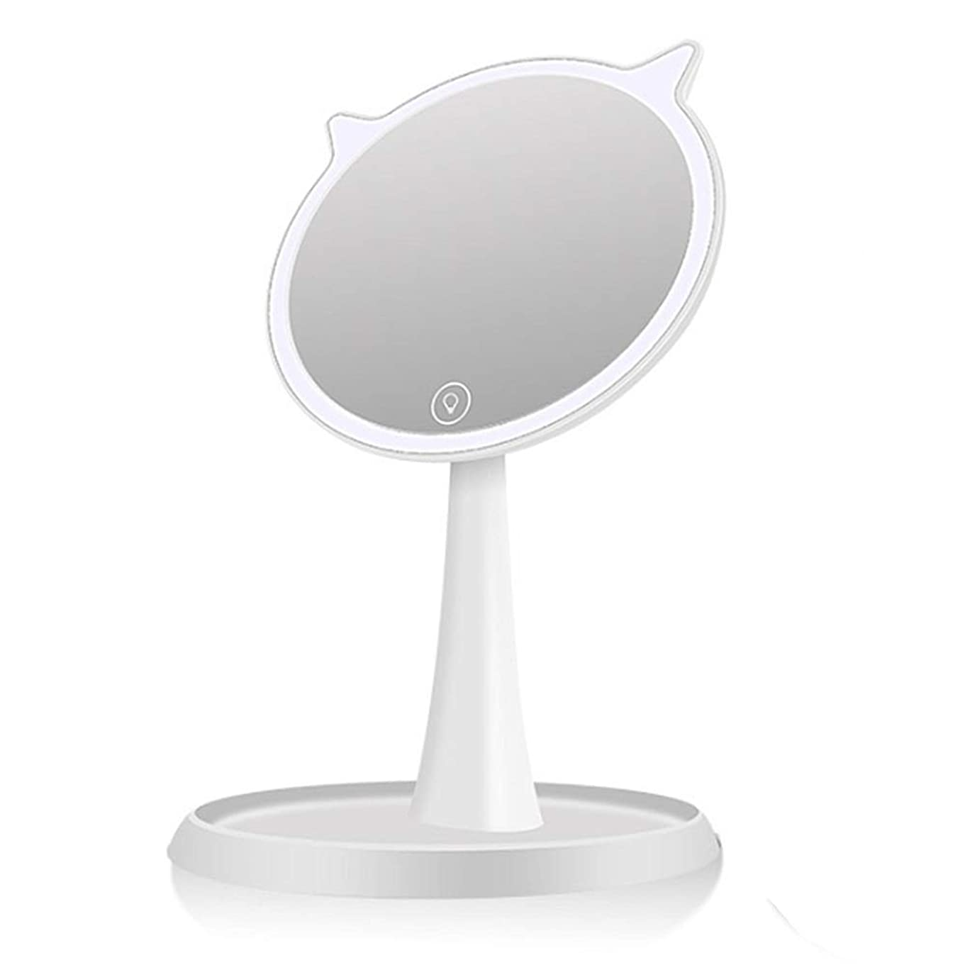 砂漠頼む制限する化粧鏡 Lsb充電自然な明るい光化粧化粧台ミラー取り外し可能な10倍倍率タッチスクリーン調光調節可能な回転ledライト付きミラー (色 : 白, サイズ : Free size)