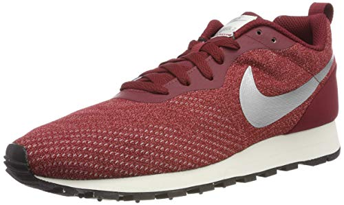 Nike MD Runner 2 ENG Mesh, Scarpe da Fitness Uomo, Multicolore (Team Red/Metallic Silver/Habanero Red 603), 40.5 EU