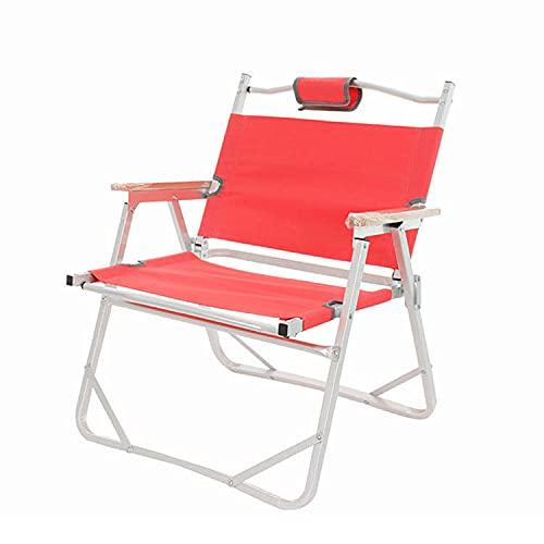 QIAOLIAN Tela Oxford Portátil De Viaje Al Aire Libre De Aleación De Aluminio De Almacenamiento Plegable Camping Playa Silla De Pesca Silla De Respaldo Engrosado