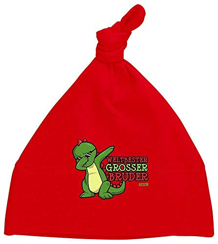 Hariz - Gorro para bebé con nudo (incluye tarjeta de regalo), color rojo