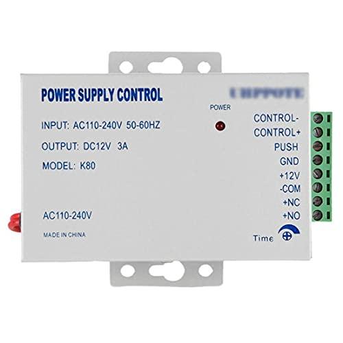 Controlador de Fuente de alimentación de Bloqueo DC 12V AC 110-240V 3A Sistema de Control de Acceso a Domicilio de la Puerta K80