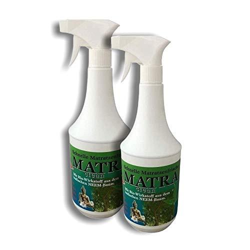 2L MATRA CLEAN Milbenspray für Polster & Textilien, Milbenschutz, Milben Stop-Spray, Milbencontroller, Anti-Milben-Mittel für Matratzen-Reinigung