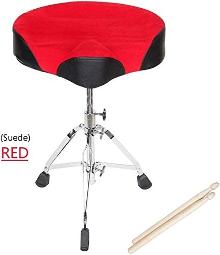 MCRDAE Universal Drum Throne Drum Stool Throne with Round Padded Seat Height Adjustable Foldable product image