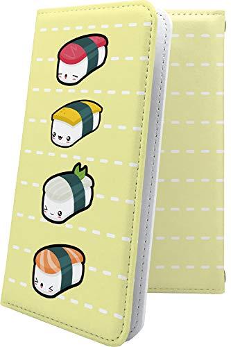 スマートフォンケース・Galaxy Feel2 SC-02L・互換 ケース 手帳型 お寿司 寿司 ごはん キャラクター キャラ キャラスマートフォンケース・ギャラクシーフィール ギャラクシー フィール 手帳型スマートフォンケース・かわいい 可愛い kawaii lively galaxyfeel2 sc02l 食べ物 米 お米 海苔 のり ご飯 [Xt93655z21]
