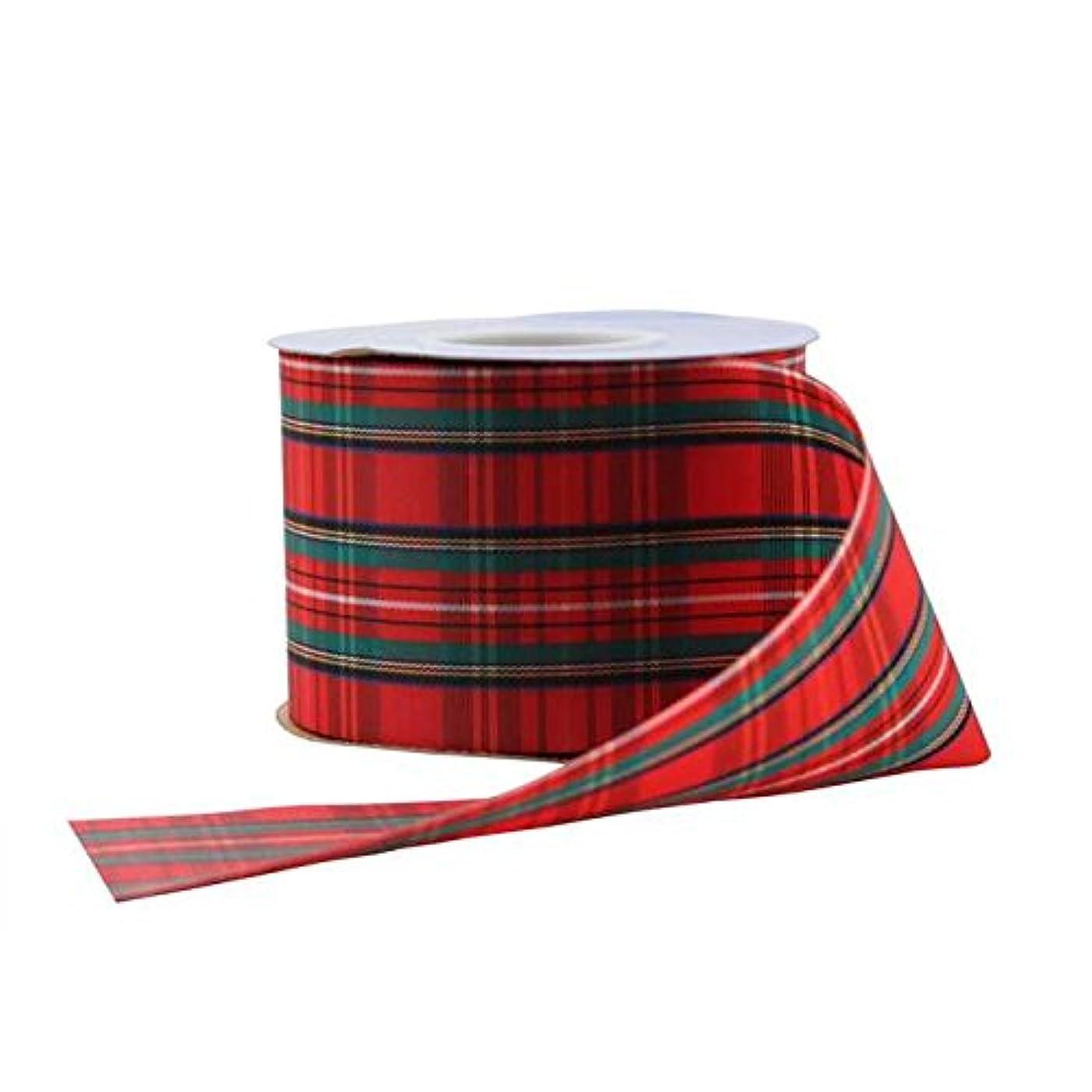 Berwick Offray Stewart Plaid Ribbon-2-1/2 Wide X 25 Yards-Red Ribbon