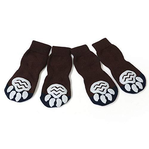 BXGZXYQ Perro para Mascotas Perro Grande Calcetines De Algodón Anti Arañazos Calcetines...