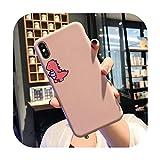 Carcasa para iPhone X, XR, XS, Max, 7, 8, 6, 6S, Plus, 11, Pro, SE, 2020, 2 SE2, de silicona, color rosa