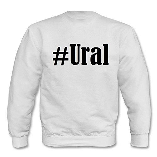 Reifen-Markt Sweatshirt Damen #Ural Größe S Farbe Weiss Druck Schwarz