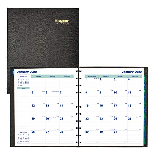 Blueline 2020 Miraclebind/CoilPro Monthly Planner, 17 Months (August 2019 - December 2020), 11 x 9.0625 Inches, Black (CF1512C.81-20)