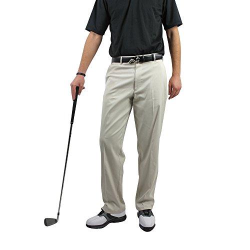 Palm Springs Golf Men's Dryfit Flat Front Pant, 34/33, Cream