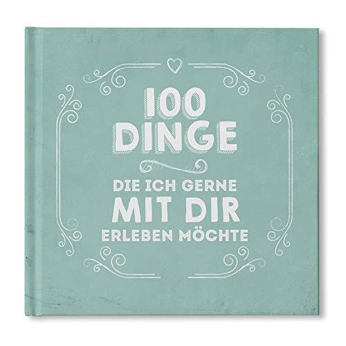 bigdaygraphix 100 Dinge Buch blanko Partnerbuch Paargeschenk Partnergeschenk Geschenkidee...