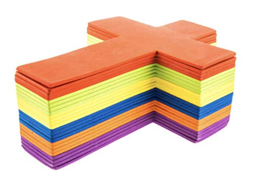 Set of 24 Bright Foam Crosses