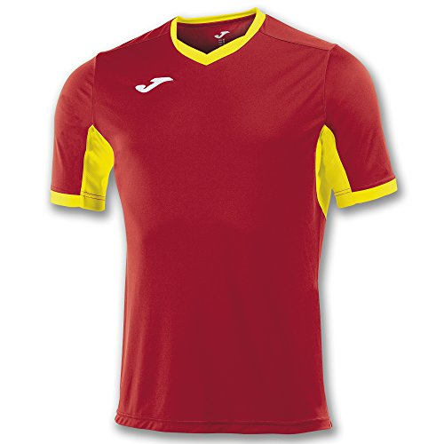 Joma Champion IV M/C Camiseta Equipamiento, Hombre, Rojo/Amarillo, L