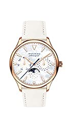 professional Movado Heritage Ladies Watch, Rose Gold, Index Dial, Gold / White / Pink (Ref.3650073)