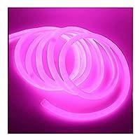ネオンLEDライトストリップ110V 120V 120LED / M2835チューブフレキシブルロープランプ360ラウンド防水防水ホリデーハウスデコレーション1 m 10メートル20メートル WANGMAO (Color : Pink, Size : 1m)