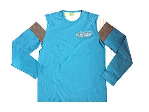 BOSS Hugo 50231966 - Camiseta de manga larga para hombre, color azul