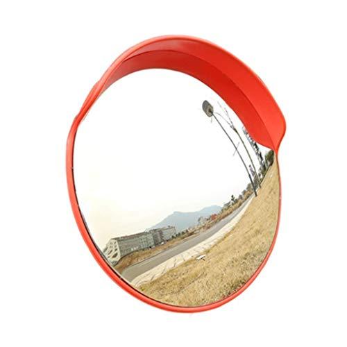 PLLP Obiettivo Grandangolare per Traffico Esterno, Specchio Convesso Esterno , Specchio Stradale Convesso Curvo Angolo Di Sicurezza , Specchio Stradale Carraio Segnale Stradale, Arancione, 60 cm