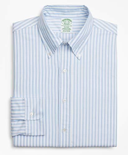 Brooks Brothers(ブルックス ブラザーズ) スーピマコットン オックスフォード ボールドストライプ ポロボタンダウン ドレスシャツ New Milano Fit 100143144 ブルー/ホワイト 15 1/2-32