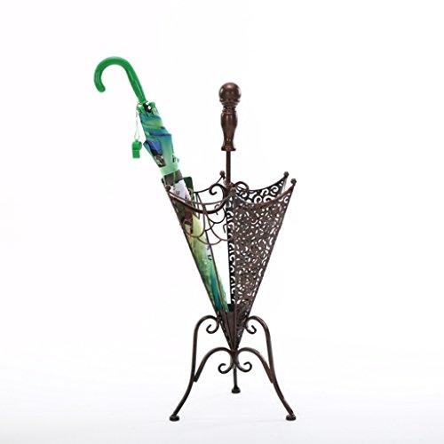 Porte-parapluies Iron Art Parapluie Stand Rain Gear étagères de Rangement Or et Noir 10 * 13 * 28 Pouces