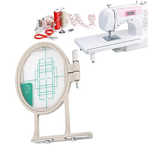 Marco de aro de bordado, marco elástico para máquina de coser, conveniencia y practicidad para el trabajo de costura, solo apto para máquinas de coser de bordado Brothers(Talla pequeña)