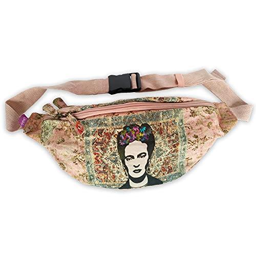 Riñonera Bolso Bandolera Deportiva, Paseos / Viajes / Fiestas / Aventuras. Moda Casual Mujer Frida Kahlo. Riñonera Bolsa de Escuela Vintage Elegantes y Colores Original