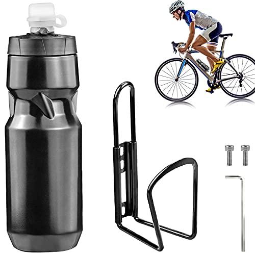 Soporte Agua Bicicleta Porta Botella Bicicleta Botella de Agua para Bicicleta con Accesorios para Bicicletas para Bicicletas de montaña y de Carretera Portabidón Esencial para Montar