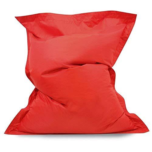 Hi-BagZ® - Pouf géant de Sol à 4 Bords - Extra Large - pour intérieur/extérieur - 100% résistant à l'eau et aux intempéries