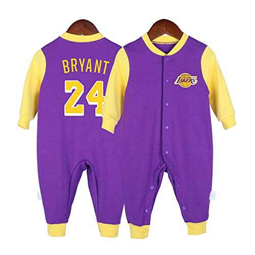 ZGRNB NBA Basketball Trikot Sportfan Baby Creepers Strampler Paul George 3 Kobe Bean Bryant 24 Manu Ginobili 20 Stephen Curry 30 Kyrie Irving 11 Jumpsuit Cardigan Höhe 59 cm-90 cm