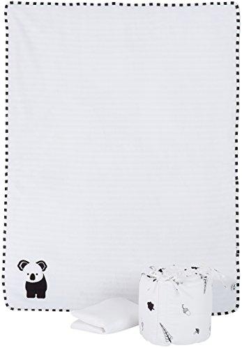 Tots by Smart Rike 360120 Set de lit en bambou noir