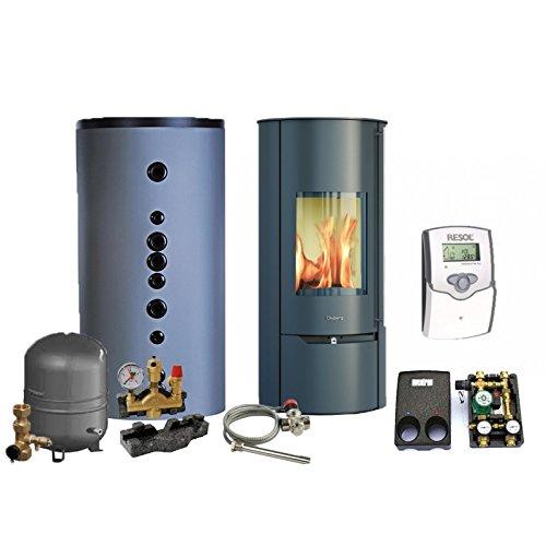 Wasserführender Kaminofen - Komplettpaket Premium - Olsberg Tolima Aqua Compact (10 kW)