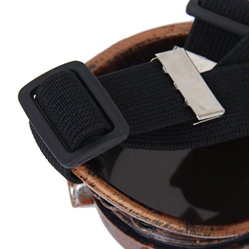 TOOGOO(R)) Schutzbrille Jahrgang Steampunk Brille Zyklop Brille Gotik Cosplay Kostuem Fuer das Linke Auge (Kupfer)