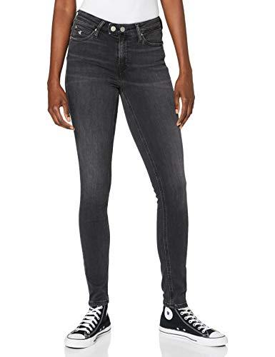 Calvin Klein Ckj 011 Mid Rise Skinny Pantalones, BB120-GREY Double Shank, 26W / 32L para Mujer