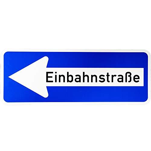 """ORIGINAL Verkehrsschild Nr. 220 - 10 """" Einbahnstraße linksweisend """" 300 x 800 mm Verkehrszeichen Schild Straßenschild Zusatzschild Verkehrsschilder Verkehrsschild Straßenzeichen links Einbahnstrasse"""