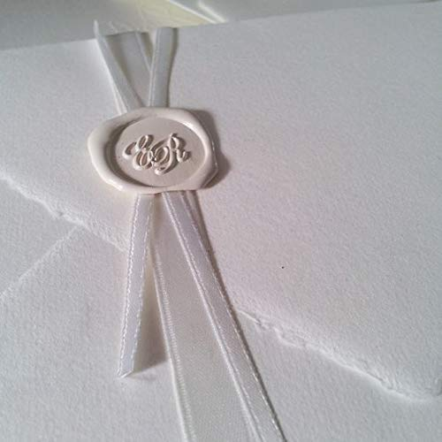 Timbro sigillo per ceralacca personalizzato per lettera, busta, biglietto matrimonio, regalo laurea (25mm, Con Iniziali)