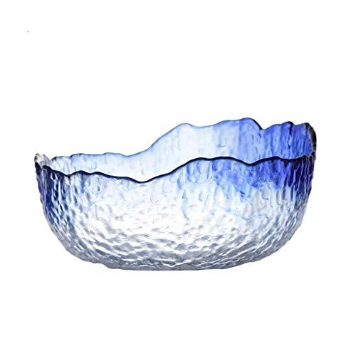 Beautiful Cuencos de almacenamiento doméstico Bowls Fruit Bowl, cesta de frutas de cristal, bolígrafo de postre, placa de ensalada nórdicica, placa de refrigerio, soporte de frutas encimeras, usado en