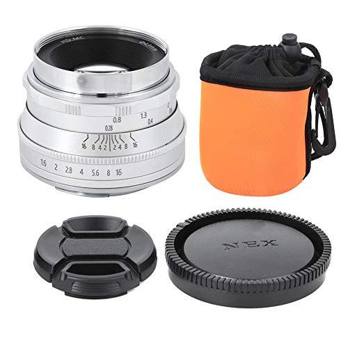 35mm f1.6 Fixed Focus High Definition Mirrorless Camera Lens Coating Film Mirrorless Camera Lens Z Mount voor Nikon Z6 Z7 Z50(Zilver)