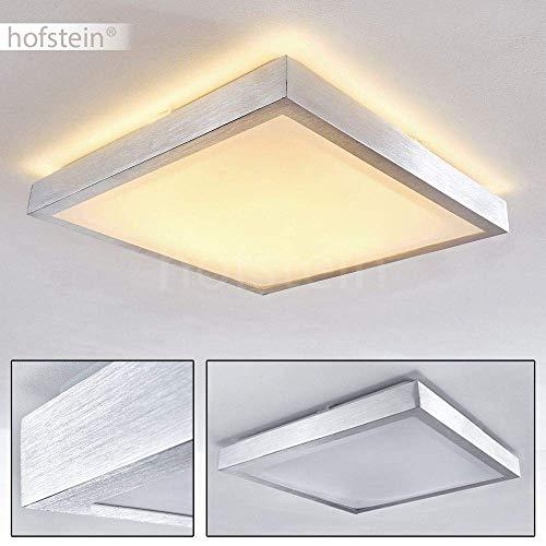 Quadratische LED Leuchte Sora für Badezimmer – Küche – Flur – Esszimmer – Eckige Badleuchte im modernen Design mit 3000 Kelvin – Energiespar-Lampe mit 24 Watt