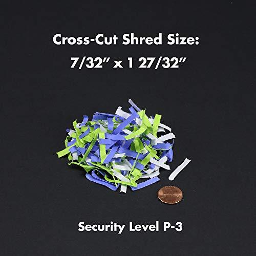 Aurora AS890C 8-Sheet Cross-Cut Paper/Credit Card Shredder with Basket