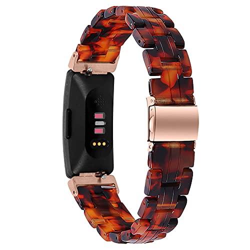 Compatible con Fitbit Inspire/Inspire HR Bands, pulsera de resina, correa ajustable para Fitbit Inspire 2 Health & Fitness Tracker, A Style- for Inspire/ Inspire HR, Sin piedras preciosas,