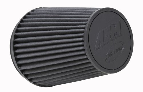 AEM 21-2100BF Universal DryFlow Clamp-On Air Filter: Round Tapered; 6 in (152 mm) Flange ID; 8.125 in (206 mm) Height; 7.5 in (191 mm) Base; 5.125 in (130 mm) Top