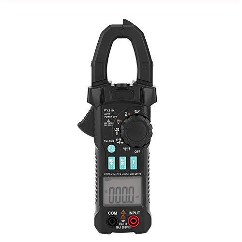 LTH-GD Multímetro de Electricista FY219 exhibición Doble de AC/DC Pinza amperimétrica Digital portátil del Metro del Voltaje Actual para Pruebas eléctricas