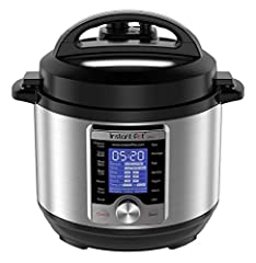 Ultra is the latest addition to the Instant Pot Family. Simple twist and click programming allows for easy access to preset cooking programs and provides ultimate user customization New features: automatic altitude adjustment, visual progress bar & s...