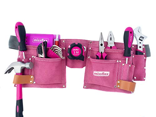 missfixx Werkzeuggürtel inkl. Werkzeug pink