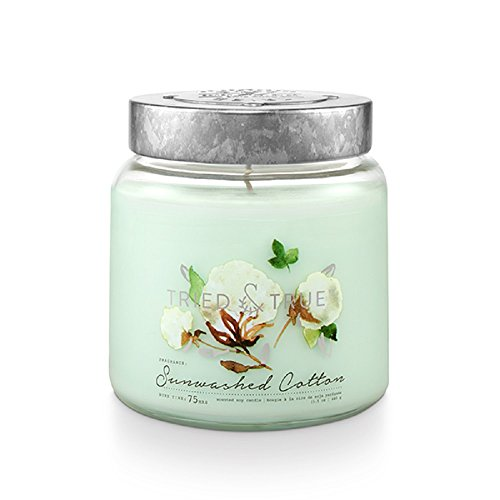 Tried & True Sunwashed Cotton, 15.5 oz. Candle, Blue