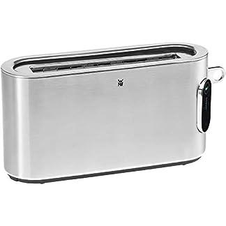WMF-Lumero-Toaster-Langschlitz-mit-Broetchenaufsatz-2-Scheiben-XXL-Einseitiges-Toasten-1-Scheiben-Taste-10-Braeunungsstufen-Toaster-edelstahl-matt