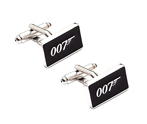 5starwarehouse ® James Bond 007Manschettenknöpfe in Schwarz Luxus Samt Geschenkbox Manschettenknöpfe Aufbewahrung Geschenk-Box Schmuck Display Fall