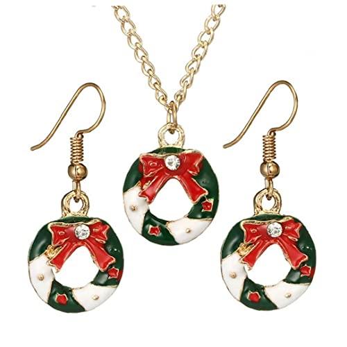 1 Paquete Pendientes de Collar de Haz de Navidad para Mujeres para Mujeres Fantasías Vestimenta Accesorios